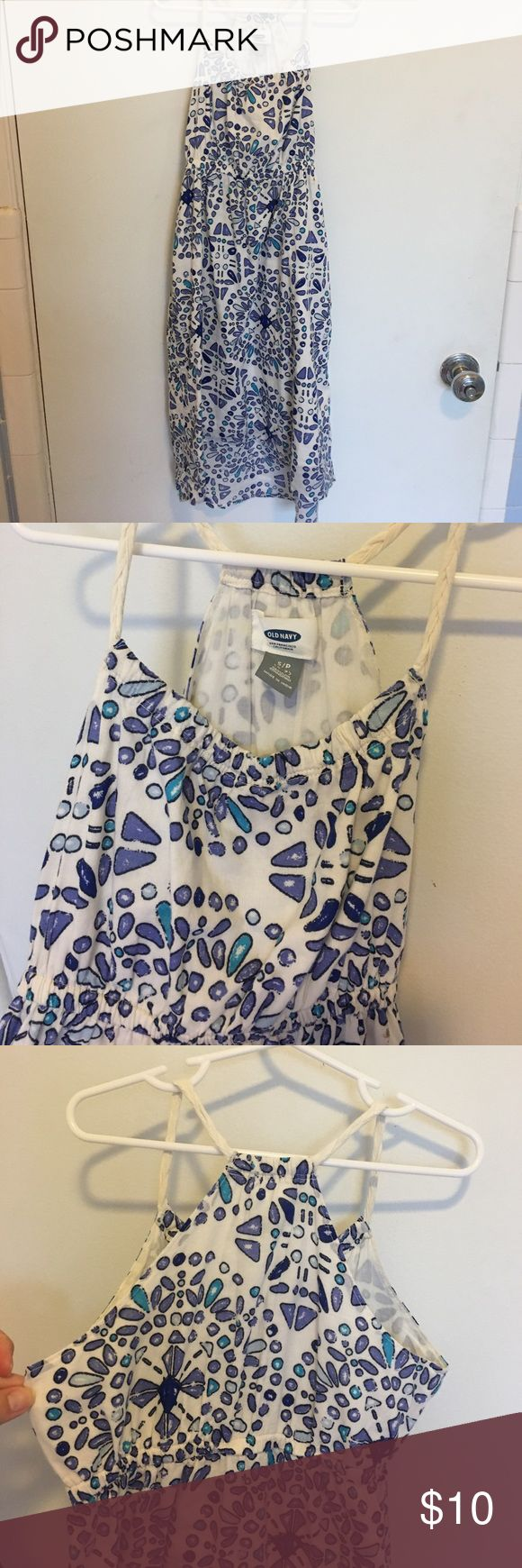 Old Navy girls high-low midi dress 💎 Super cute ....Old Navy high low midi dress with racer back, empire waist and braided strap detail dress is lined so it is not sheer!  🦋🐬🌊💎💙 Old Navy Dresses Casual