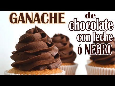 Ganache de chocolate con leche o chocolate negro - YouTube