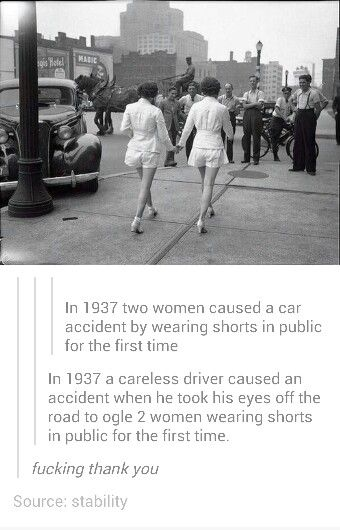 THE WOMEN DIDN'T CAUSE IT.