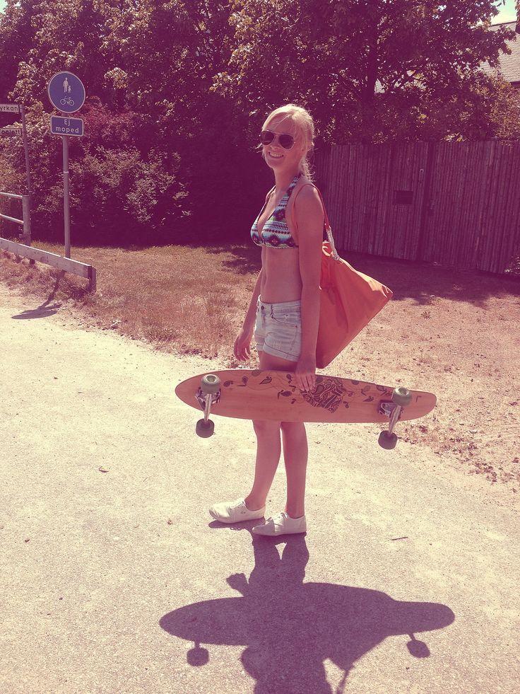 Longboard with my cute friend