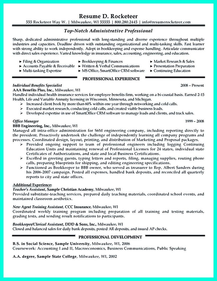 clerical assistant resumes