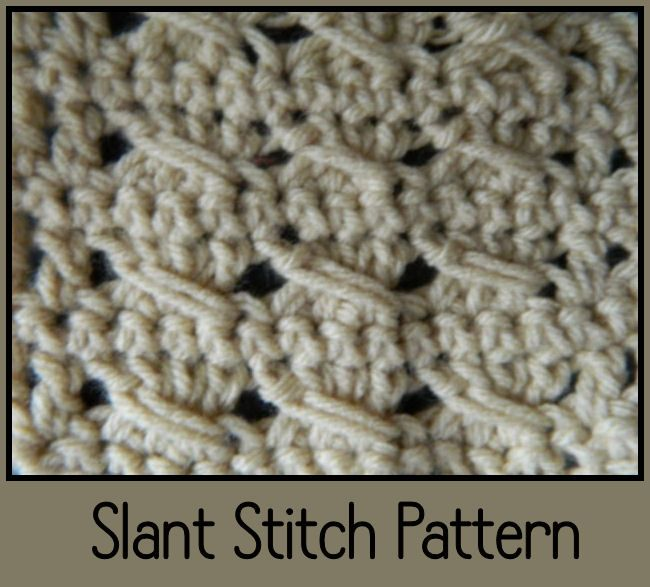 New Crochet Slant Stitch Pattern Video. Great for any beginner