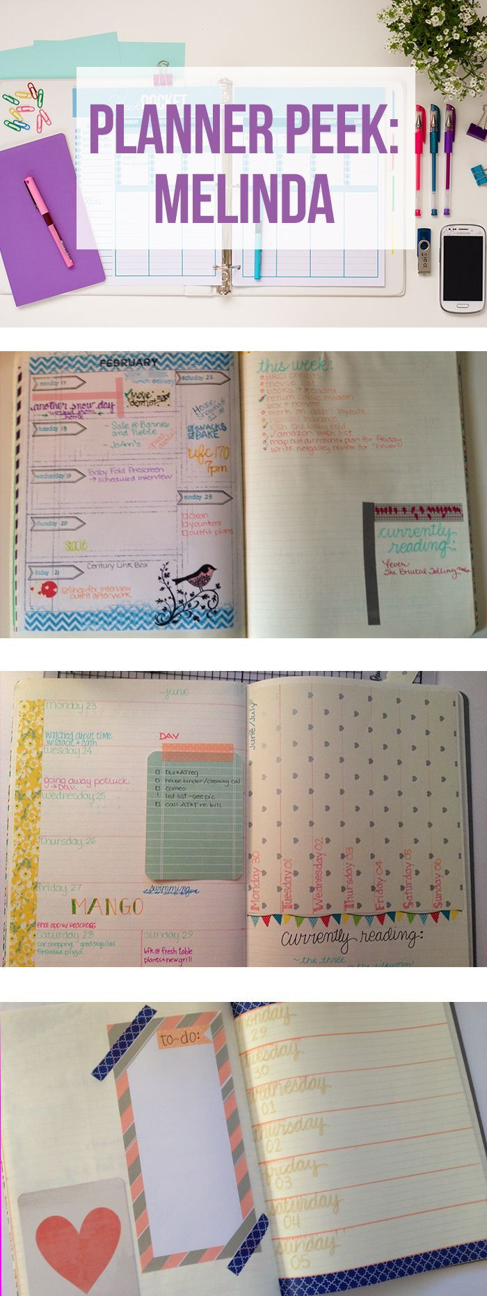 Melinda's DIY Planner from an XL moleskine. If you like this planner setup you should check out this post: http://www.designisyay.com/kikki-k-personal-planner-setup/