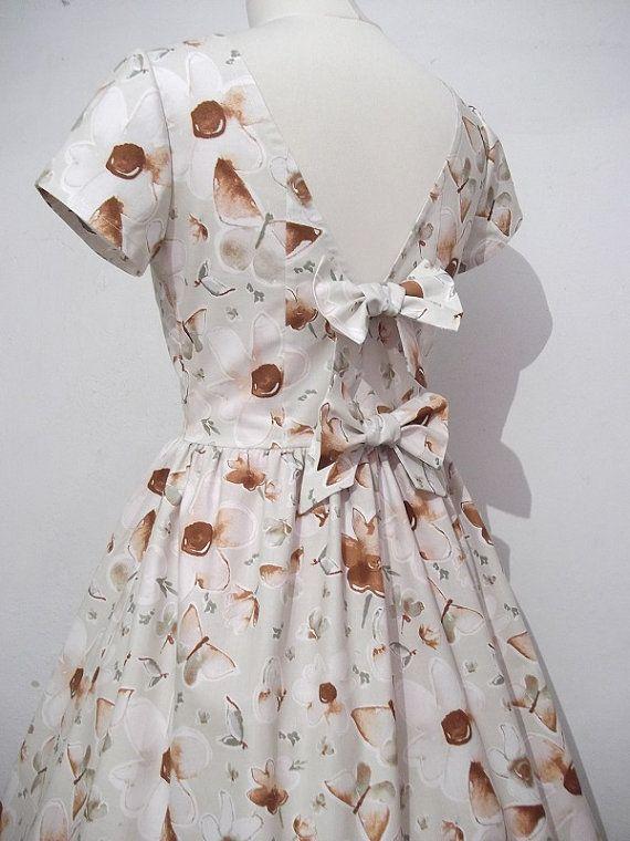 Summer women's dress Flowers and butterflies