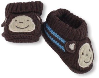Pusat Model Sepatu Bayi Perempuan - Carter Hosiery Bayi-anak laki-laki baru lahir Monyet Wajah Booties Crochet | Pusat Sepatu Bayi Terbesar dan Terlengkap Se indonesia