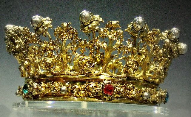 Crown for a stature of the Virgin  Victoria and Albert Museum  Silver partly gilded  Germany about 1863
