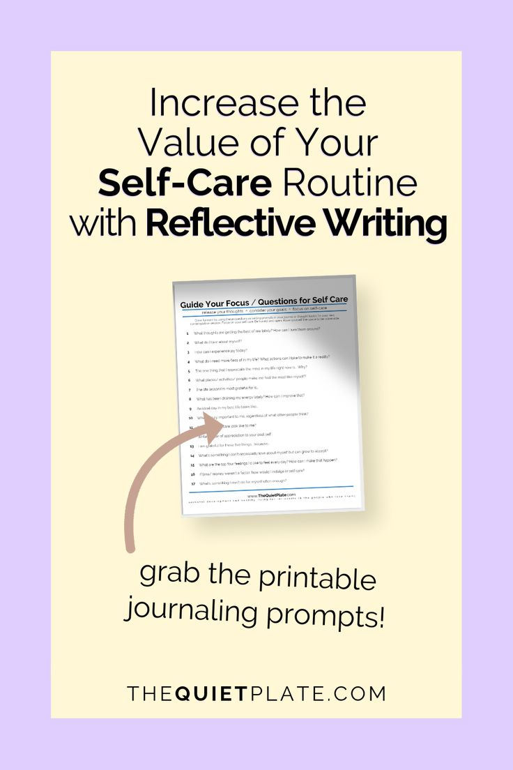 Reflective writing is an effective way to expand your self care practice. Use th… – Journaling Prompts
