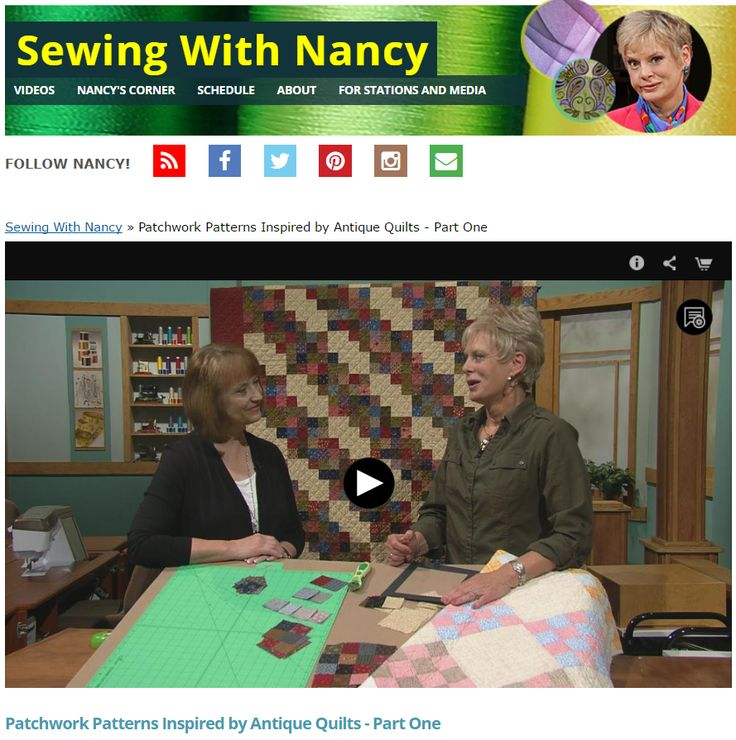 Patchwork Patterns Inspired by Antique Quilts - Part One on Sewing With Nancy Zieman