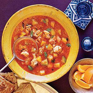 Moroccan Chicken and Butternut Squash Soup | MyRecipes.com