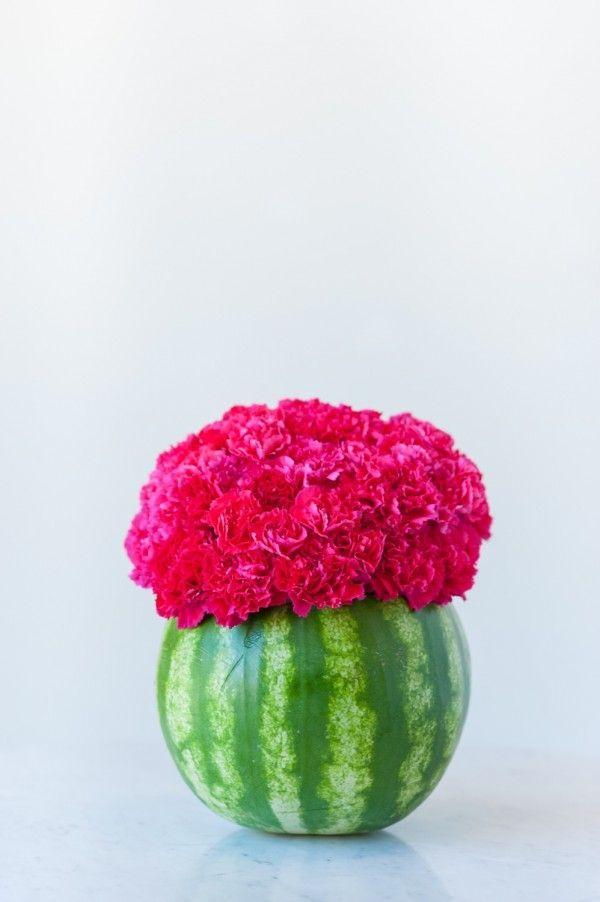 DIY Watermelon Flower Centerpiece