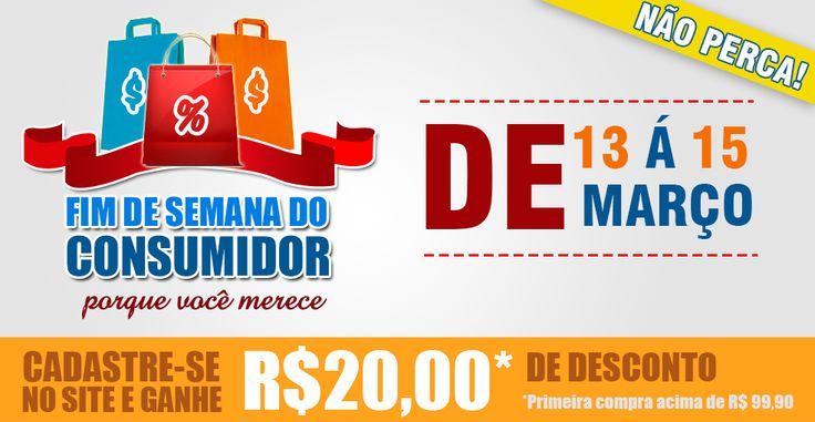Está chegando o momento mais esperado - FIM DE SEMANA DO CONSUMIDOR! Não Perca!!!