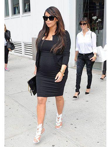 Celebrity Maternity Style - Celebrity Pregnancy Fashion - Real Beauty  #kimk #kardashian