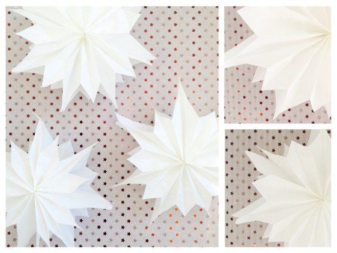 Pompom-Sterne oder Butterbrottüten -Sterne