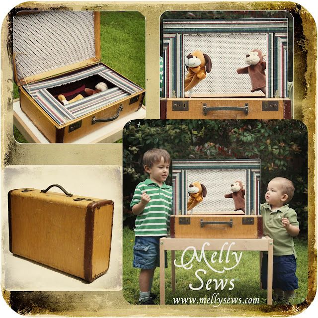 DIY for Kids: Traveling puppet theatre from a vintage suitcase