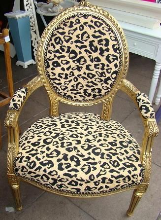 animal print chairs images | ... Style Furniture :: French Style Chairs :: French Style Leopard Chair