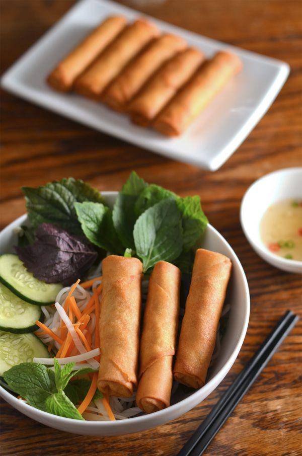 Vietnamese Egg Rolls/Spring Rolls & Rice Vermicelli Recipe (Cách Làm Bún Chả Giò)