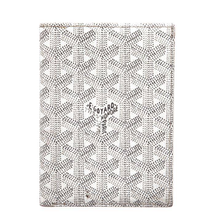 GOYARD Moliere White/silver Canvas and Leather wallet - Affordable Luxury