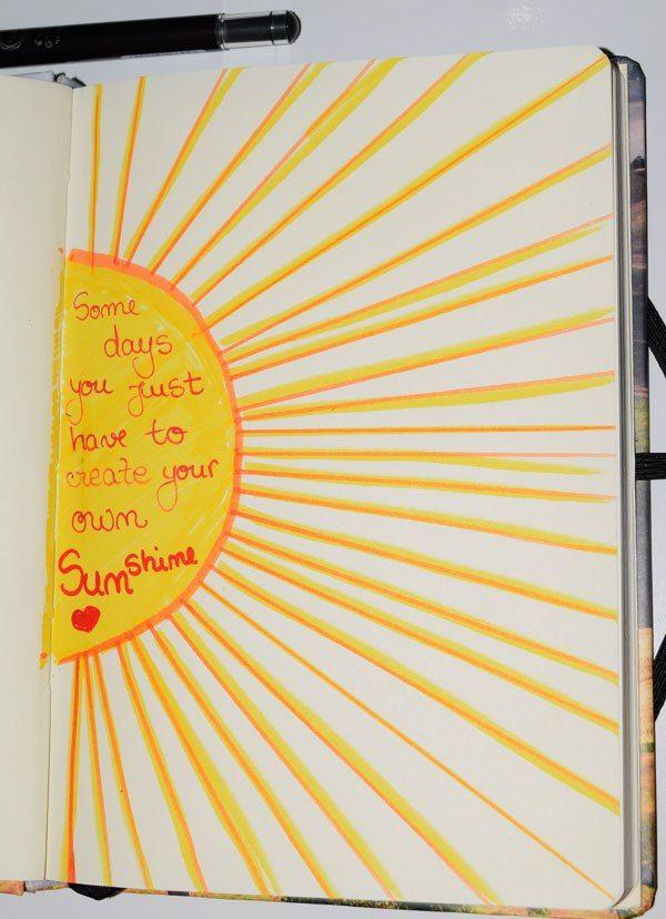 Create your own sunshine Aprilie Bullet Journal