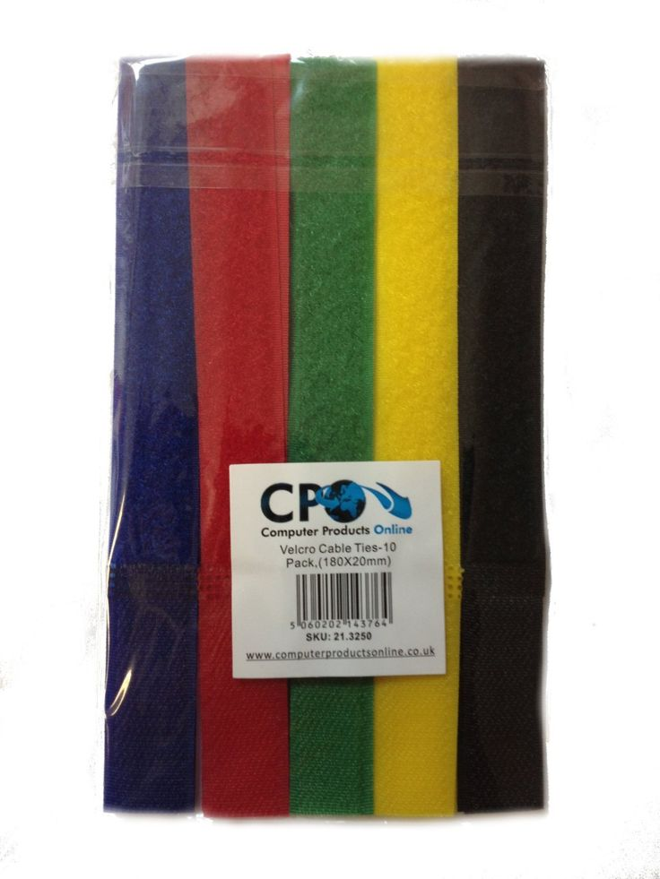 Velcro Stick Cable Ties, 180 x 20mm,10 pack / 5 Colours: Amazon.co.uk: Office Products