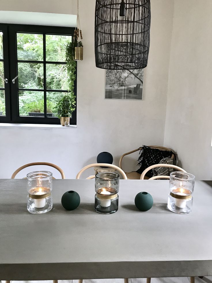 concrete, concrete table, natural skin, ball vase, simplicity, natureliving, ton chair, summer house, gold, flowers