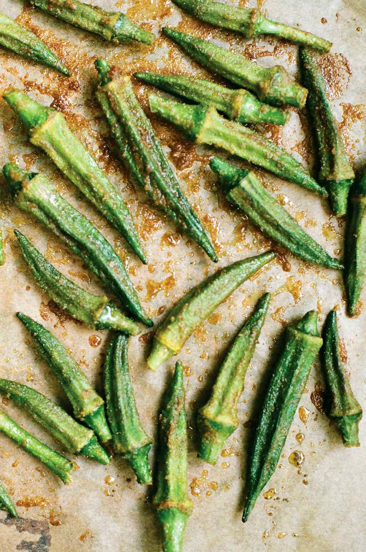 Roasted Okra Recipe from @leitesculinaria