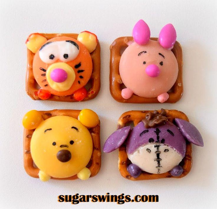 Disney Tsum Tsum pretzel snacks by sugarswings.com