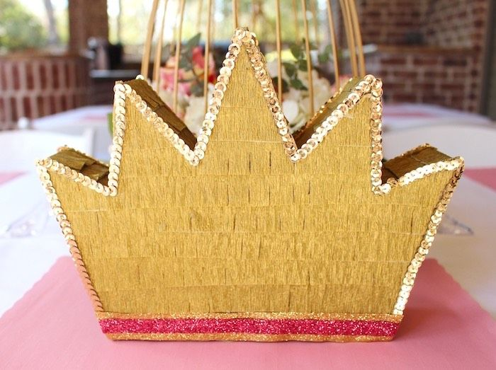 Crown Piñata from a Princess Birthday Party via Kara's Party Ideas | KarasPartyIdeas.com (8)