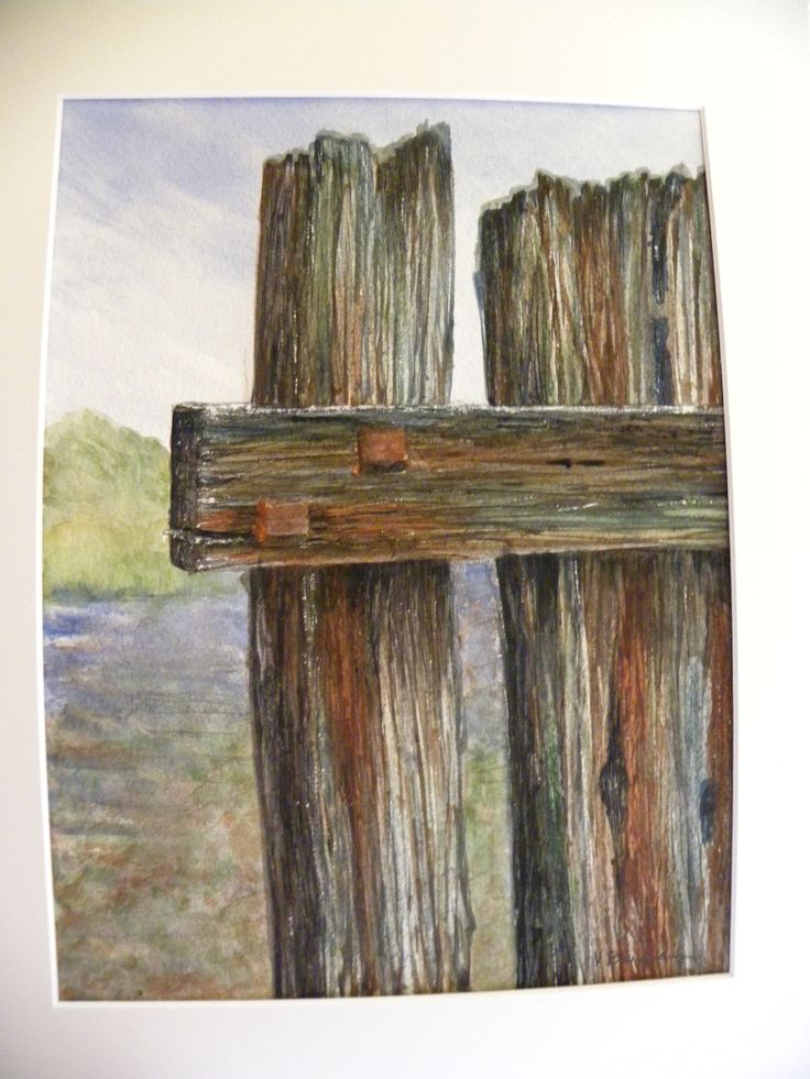 Watercolor Weathered Wood Watercolor In 2019