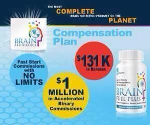 Brain Abundance has just opened it's doors, Grab top spot by taking the free tour!  A Brain supplement vitamin shipped to 200 countries, this is going to be HUGE!  Very affordable for all countries, Awesome marketing system that Converts your Free tour takers into upgrades. Brain Abundance will make MILLIONAIRES in the coming years with this powerful easy comp plan they have paid to INFINITY!! Take the free tour, check around the back office and LOCK in your top spot for FREE