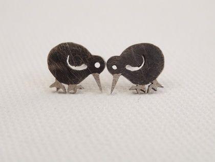 Native New Zealand Kiwi Stud Earrings