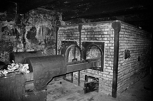 auschwitz crematorium oven night english project