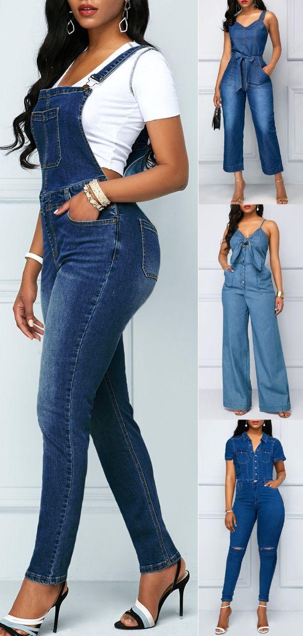 Dieser Grunge aus den 90ern wird niemals verschwinden. Der Jeans-Jumpsuit-Look kann adrett rockig oder urban getragen werden. Es kann mit Pumpen gepaa…