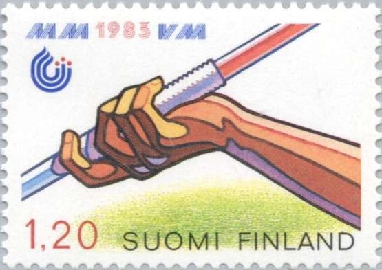Stamp: Javelin Throw (Finland) (WC Athletics) Mi:FI 929