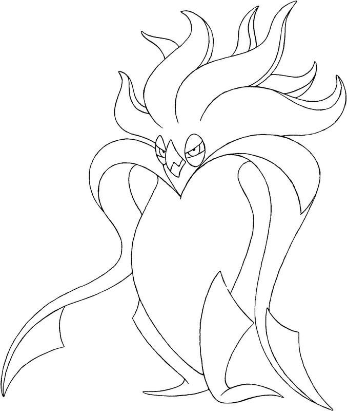 44 best pokemon x and y kleurplaten images on pinterest for Pyroar coloring pages