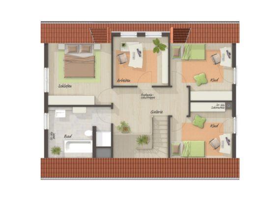 LANDHAUS 142 mit Klinker Fassade Town & Country Haus