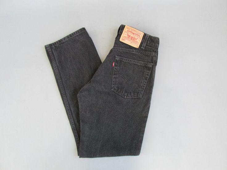 New to ColonyVtg on Etsy: Levis 505 29 Waist 30 Inseam - Men's Levi's 505 29 x 30 Black Zip Up Denim Jeans -  Levis 505 Vintage 505 Straight leg jeans black mens (38.00 USD)