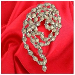 Shop tulsi mala in designer silver caps online from vedicvaani.com from India to worldwide at fair rates. Hand selected beads of Tulsi set in silver with caps. Tulsi wood, which is in the family of basil, is the most sacred of all wood in the Hindu tradition.