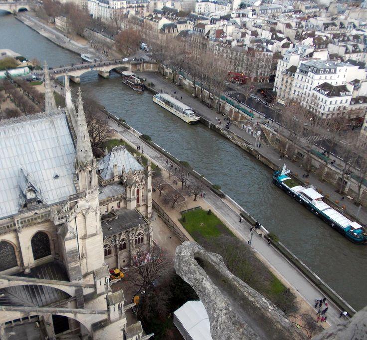 Du haut de Notre Dame à Paris