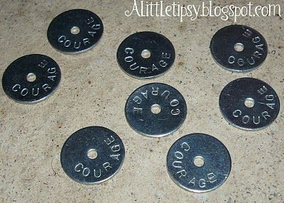 Metal Stamping on Washers from Hardware Store