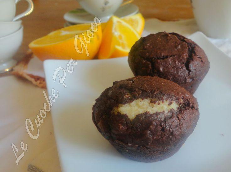 Tortini+Cioccoarancia+con+Ripieno+alle+Mandorle
