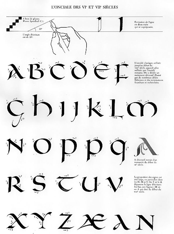 claude-mediavilla-calligraphie-onciale: