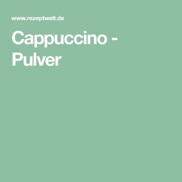 Cappuccino - Pulver