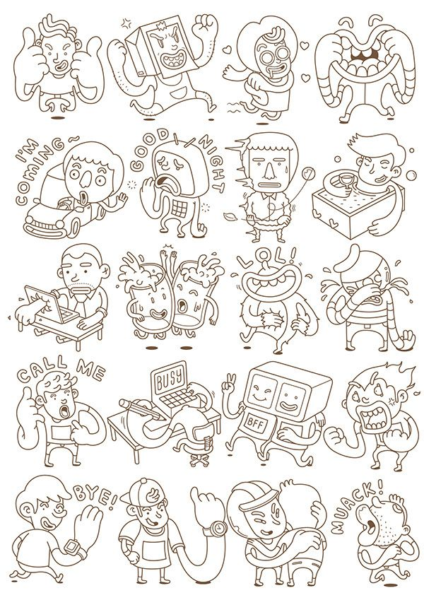 LINE stickers on Behance