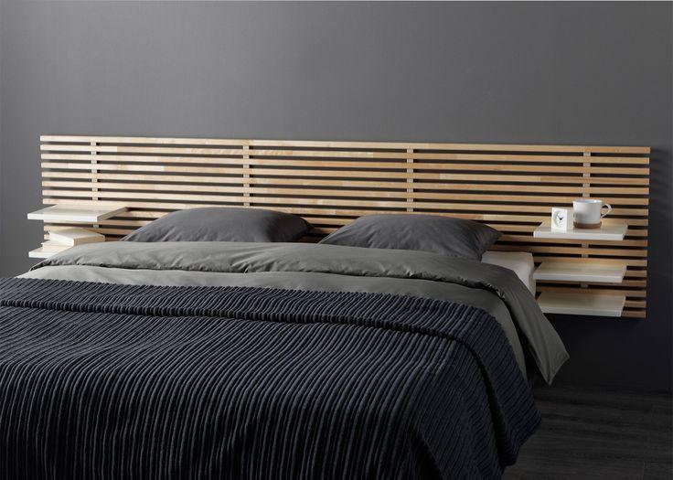 Tête de lit minimaliste en bois