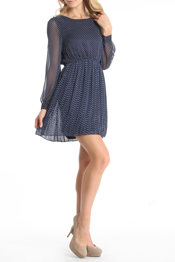 moon collection Samayi Long Sleeve Dress in Navy   so me waer