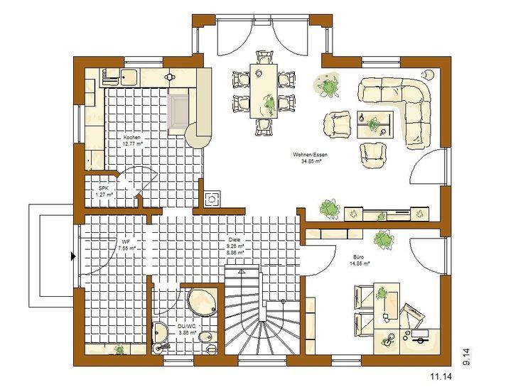Musterhaus grundriss  44 besten Grundriss Bilder auf Pinterest | Grundrisse, Musterhaus ...