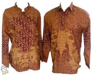 Motif Kain Batik Indonesia (kemeja Laki)