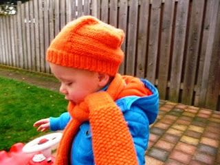 Rockin'Mum: Oranje das en muts | Orange scarf and hat