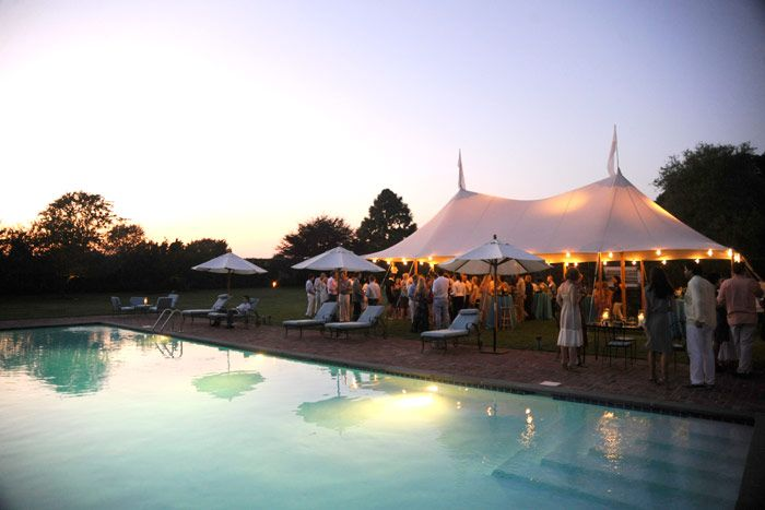 The most gorgeous party setting summer party design decor pool