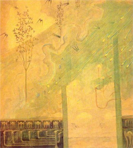 Mikalojus Ciurlionis (1875 - 1911) | Symbolism | Scherzo (Sonata of the Summer)  - 1907
